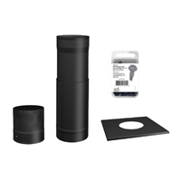 SP00370 TO THE CEILING 6'' BLACK STOVE PIPE KIT