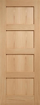 4P Oak  Fire Door