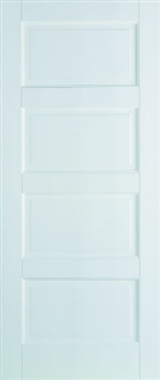 Contemporary 4P Solid White Fire Door