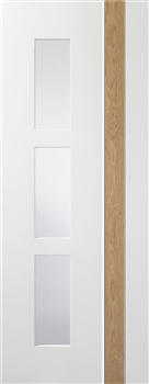 Praiano Glazed White / Oak Interior door