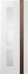 Praiano Glazed  White / Walnut Interior door