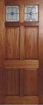 Colonial Top Light Hardwood Exterior Door