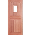 Stable 1 Light Hardwood Exterior Door
