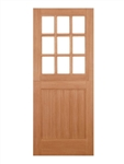 Stable 9 Light Hardwood Exterior Door