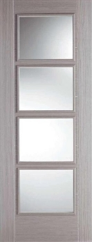 Vancouver Glazed Light Grey Interior Door