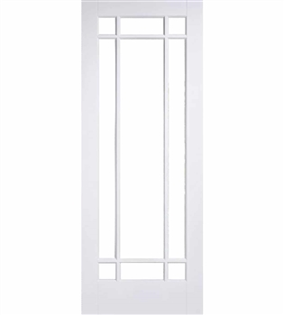 Manhattan Glazed Solid White Interior Door
