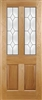 Edwardian Diamond Oak Exterior Door