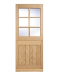 Cottage Stable 6L Oak Exterior Door