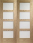 Shaker Oak Interior French Doors