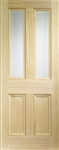 Edwardian Glazed Pine Interior Door