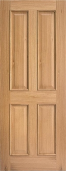 Regency 4P RM2S Oak Fire Door