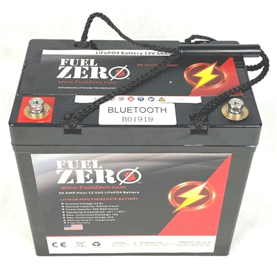 FuelZero 12v 50AH Deep Cycle LIFEPO4 Battery