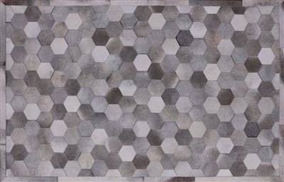 Hand Stitched Natural Cowhide Area Rug