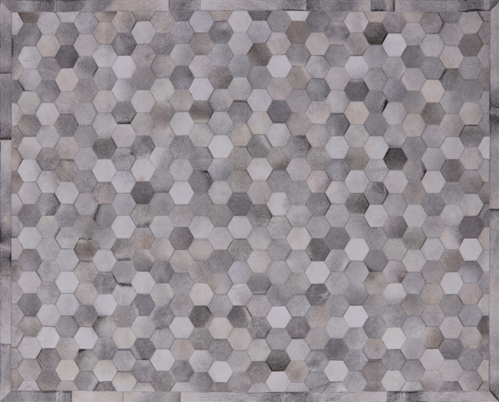 Natural Cowhide Hand Stitched Area Rug