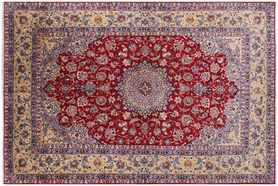 Super Fine Persian Isfahan Hand Knotted Wool Rug