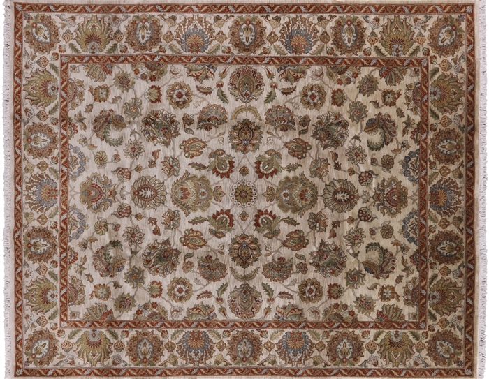 Persian Tabriz Hand Knotted Oriental Rug