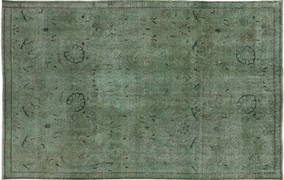 Overdyed Persian Area Rug Wool Hand Knotted Rug