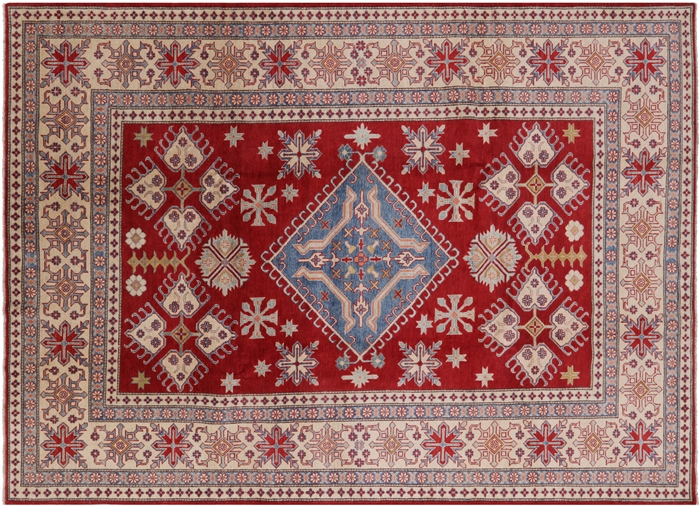 Mojave Collection Kazak Hand Knotted Wool Rug
