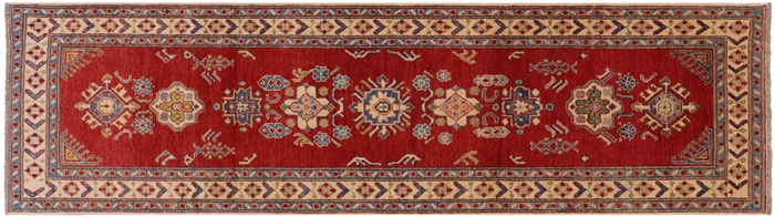 Runner Kazak Tribal Hand Knotted Wool Oriental Rug