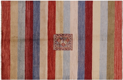 Super Gabbeh Hand Knotted Wool Area Rug