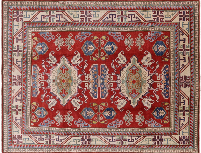 Oriental Hand Knotted Kazak Area Rug