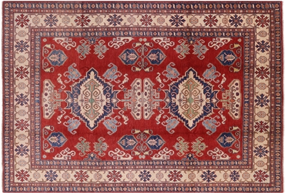 Super Kazak Hand Knotted Area Rug