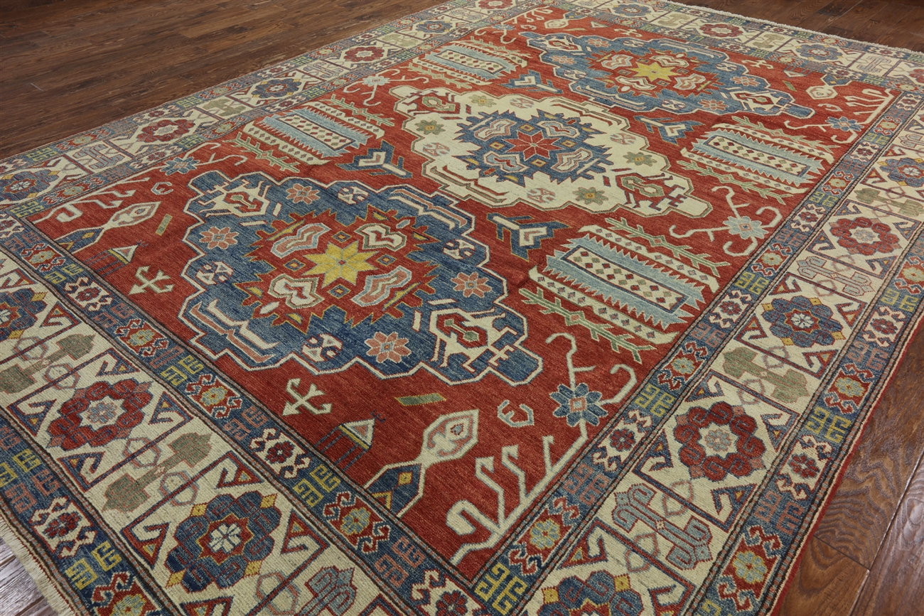 New 10x13 Red Super Kazak Oriental Hand Knotted Wool Rug Mojave Collection H6163