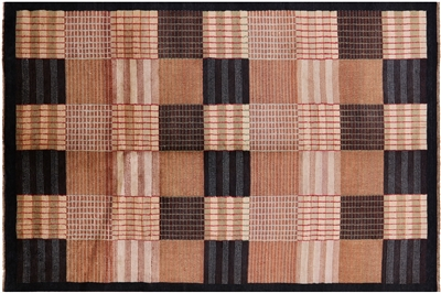 Hand Knotted Gabbeh Wool Area Rug