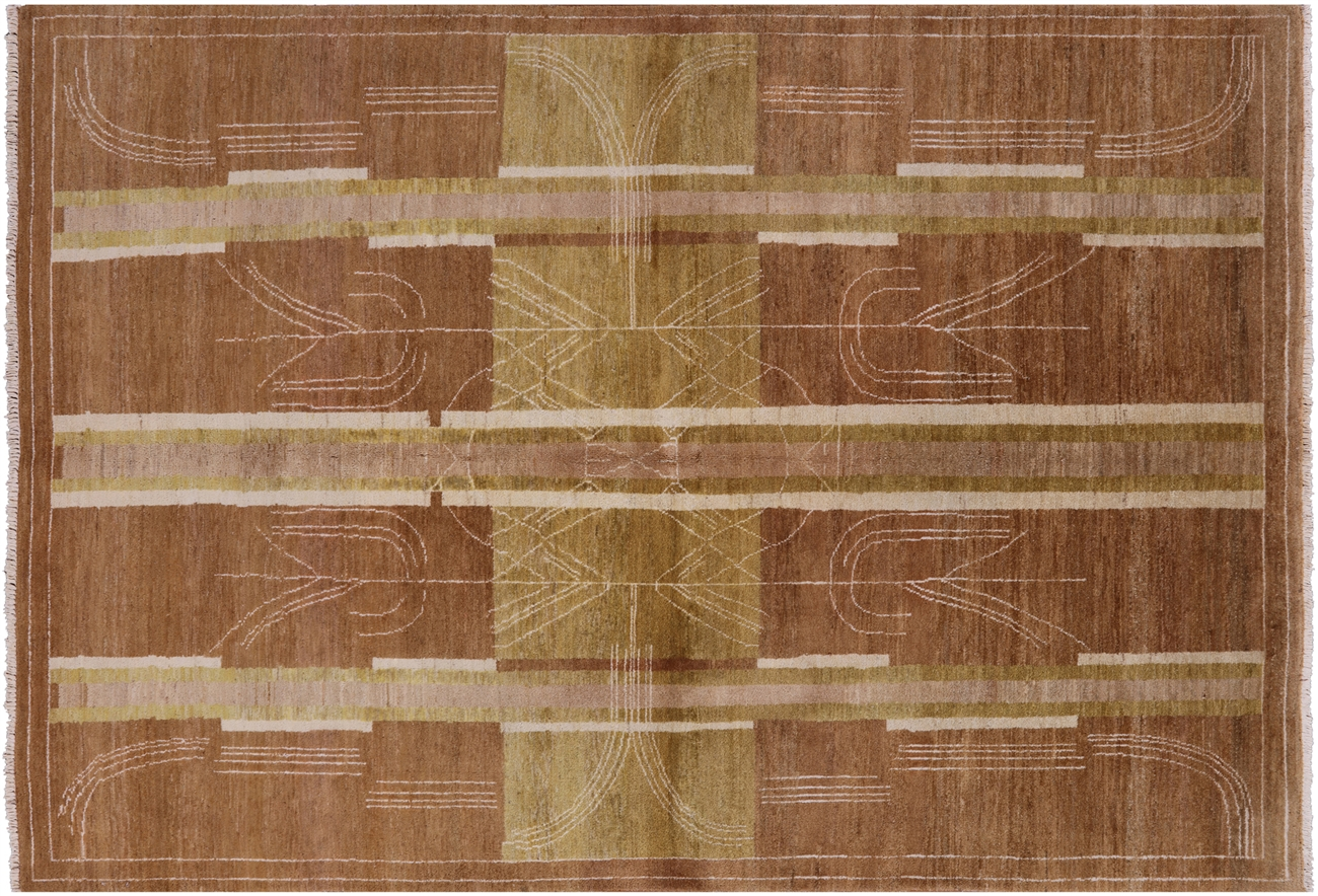 New Hand Knotted 6 X 9 Earth Tone Persian Gabbeh Lori Buft Wool Area Rug H6356