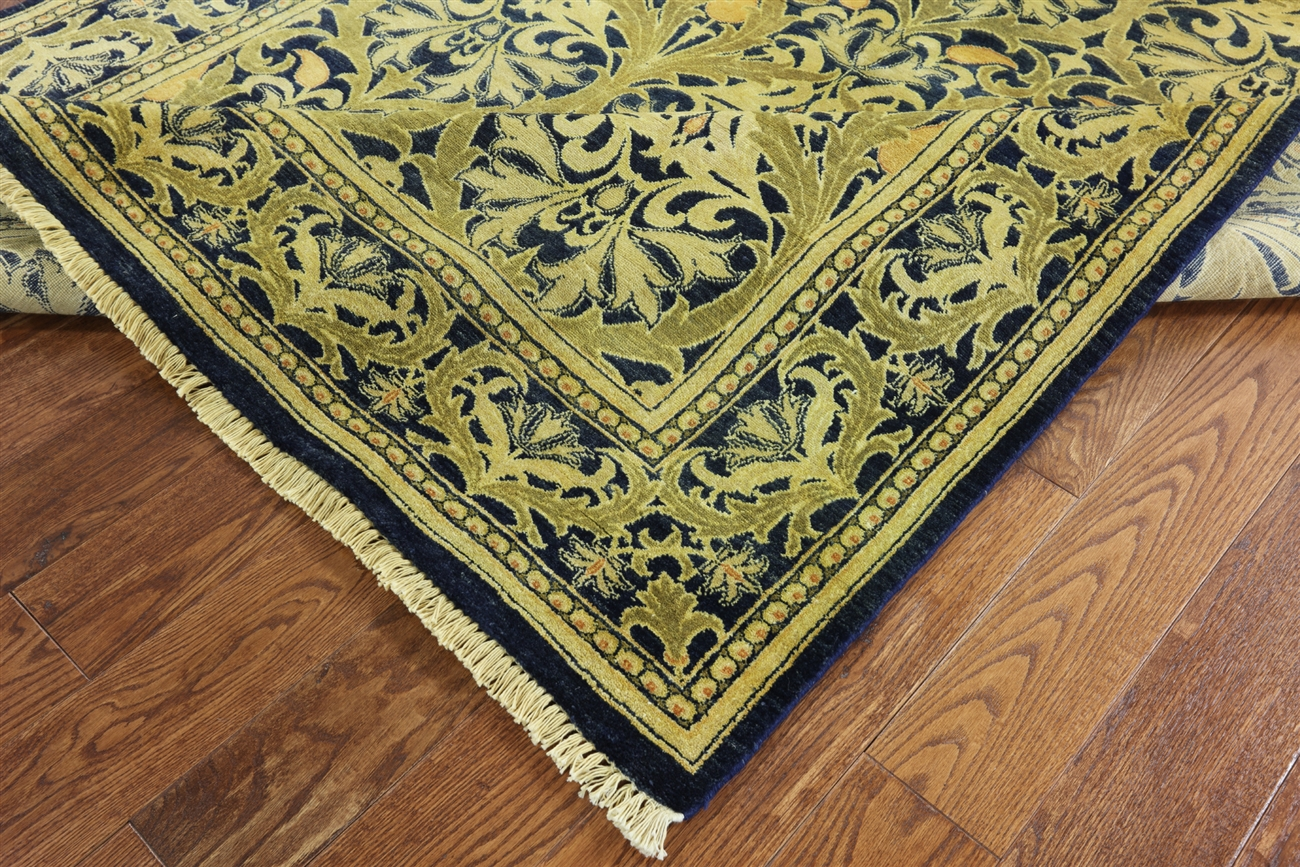 6 X 9 William Morris Handmade Wool Rug H6371