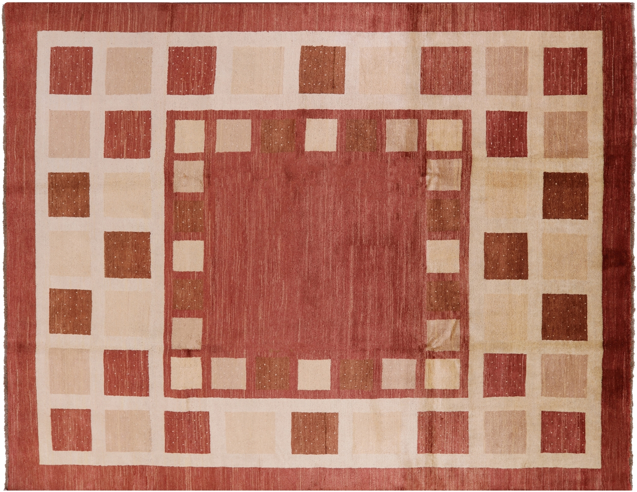 red gabbeh hand knotted wool rug