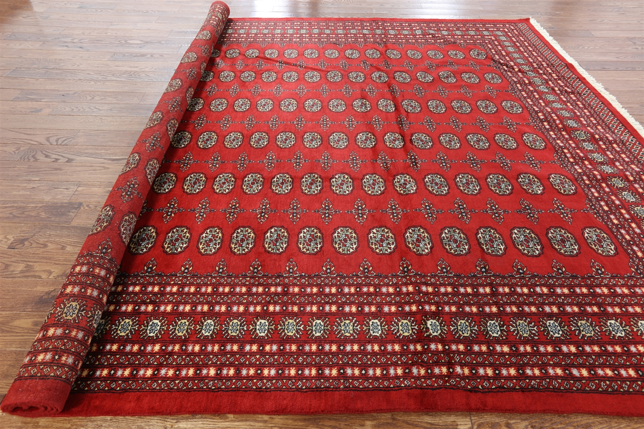 9 X 12 Oriental Red Bokhara Rug H6577