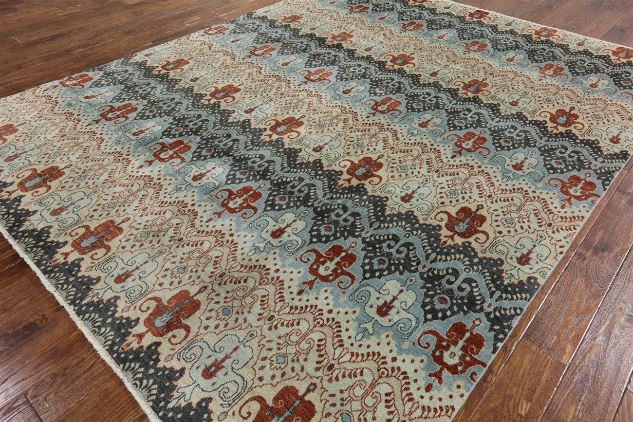 Nice Unique Oushak Collection Earth Tone Chobi Hand Knotted 8x10 Wool Area Rug  H6598