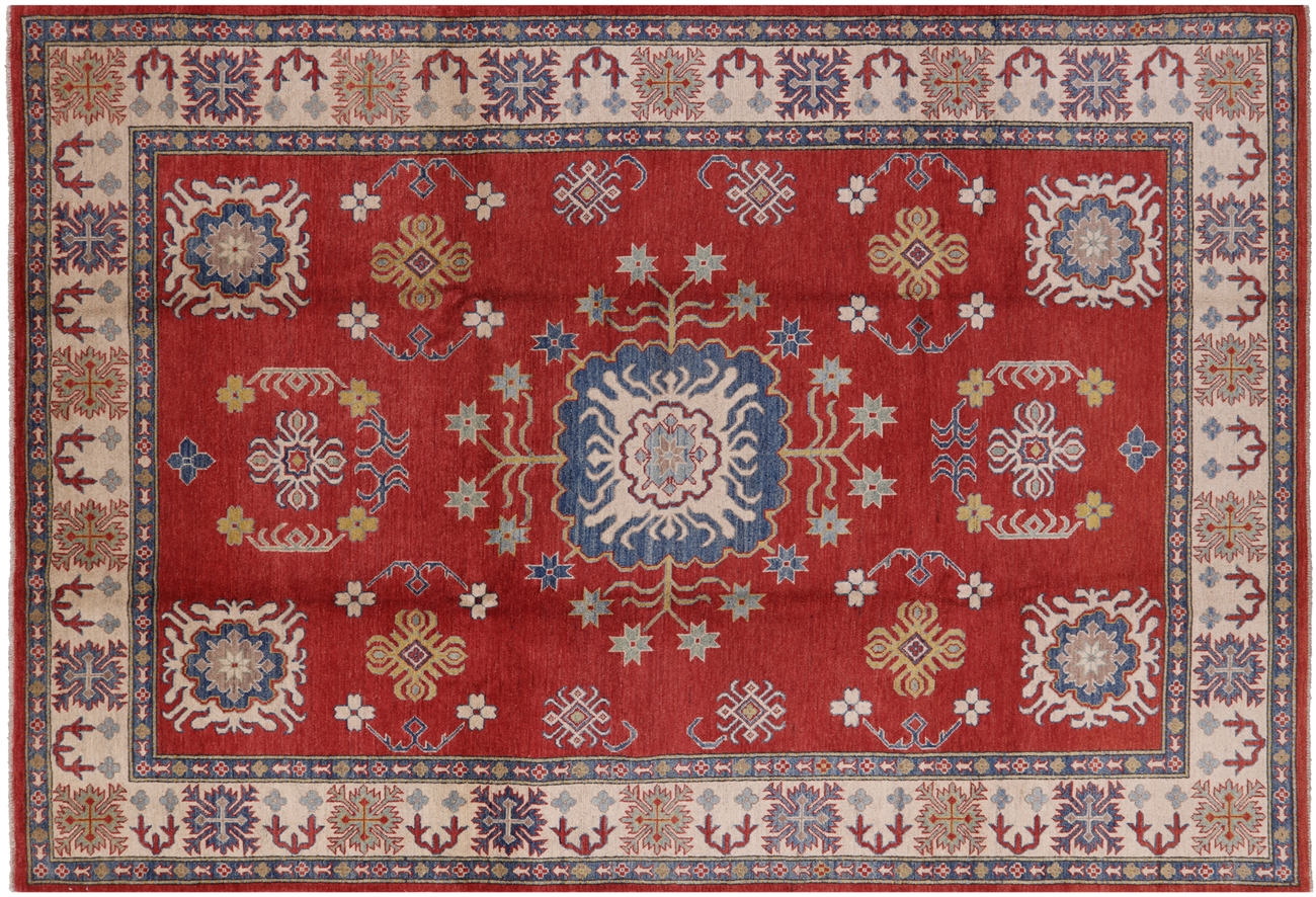 Hand Knotted Kazak Wool Area Rug