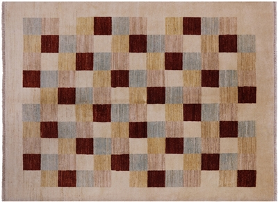 Multicolor Gabbeh Hand Knotted Wool Rug