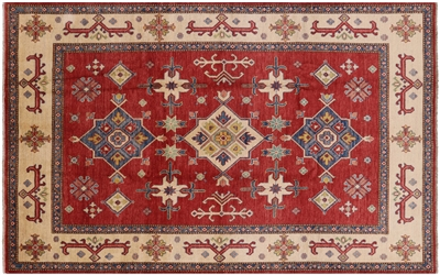Hand Knotted Wool Kazak Area Rug