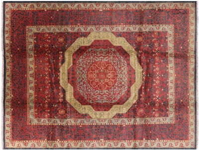 Hand Knotted Wool Mamluk Rug