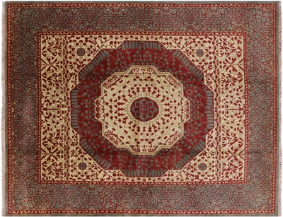 Hand Knotted Mamluk Wool Area Rug