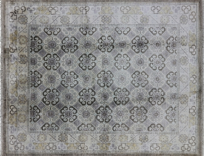 Pure Silk Hand Knotted Modern Area Rug