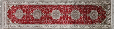 Silk Hand Knotted Red Kashan Rug