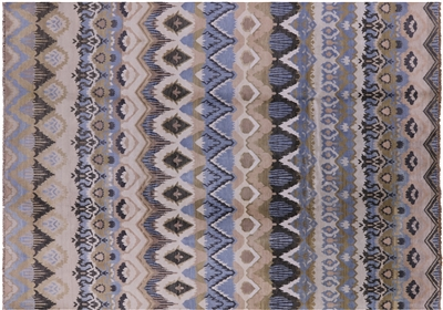 Ikat Hand Knotted Wool Rug