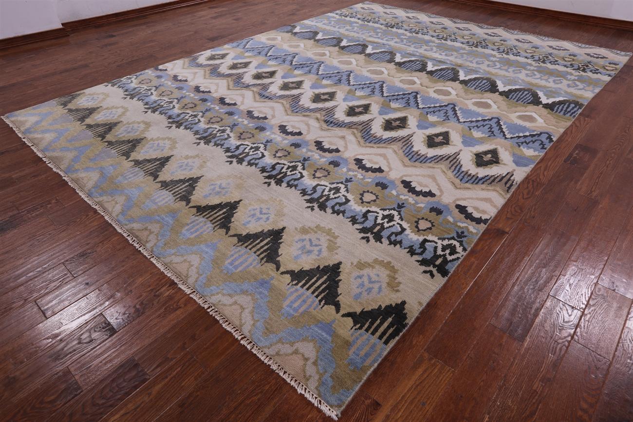 Blue Wool Ikat Rug Area Rug Ideas