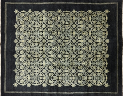 Black Gabbeh Hand Knotted Wool Rug