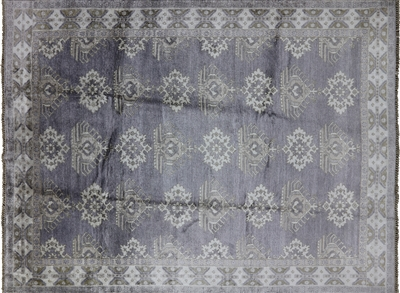 Oushak Rug Silk Double Knotted