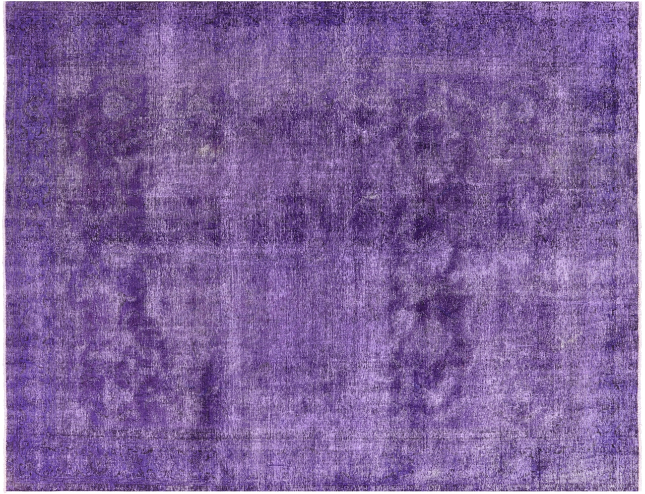 Tabriz Collection Purple Wash Overdyed Hand Knotted 10 X12 Wool