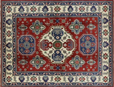 Unique Super Kazak Hand Knotted Wool Area Rug