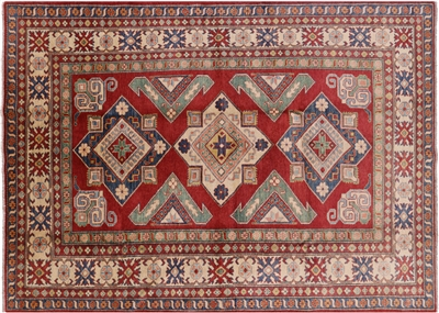 Kazak Hand Knotted Wool Area Rug