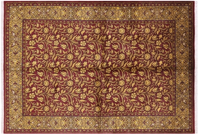 Suzani Collection Oushak Hand Knotted Floral Wool Rug