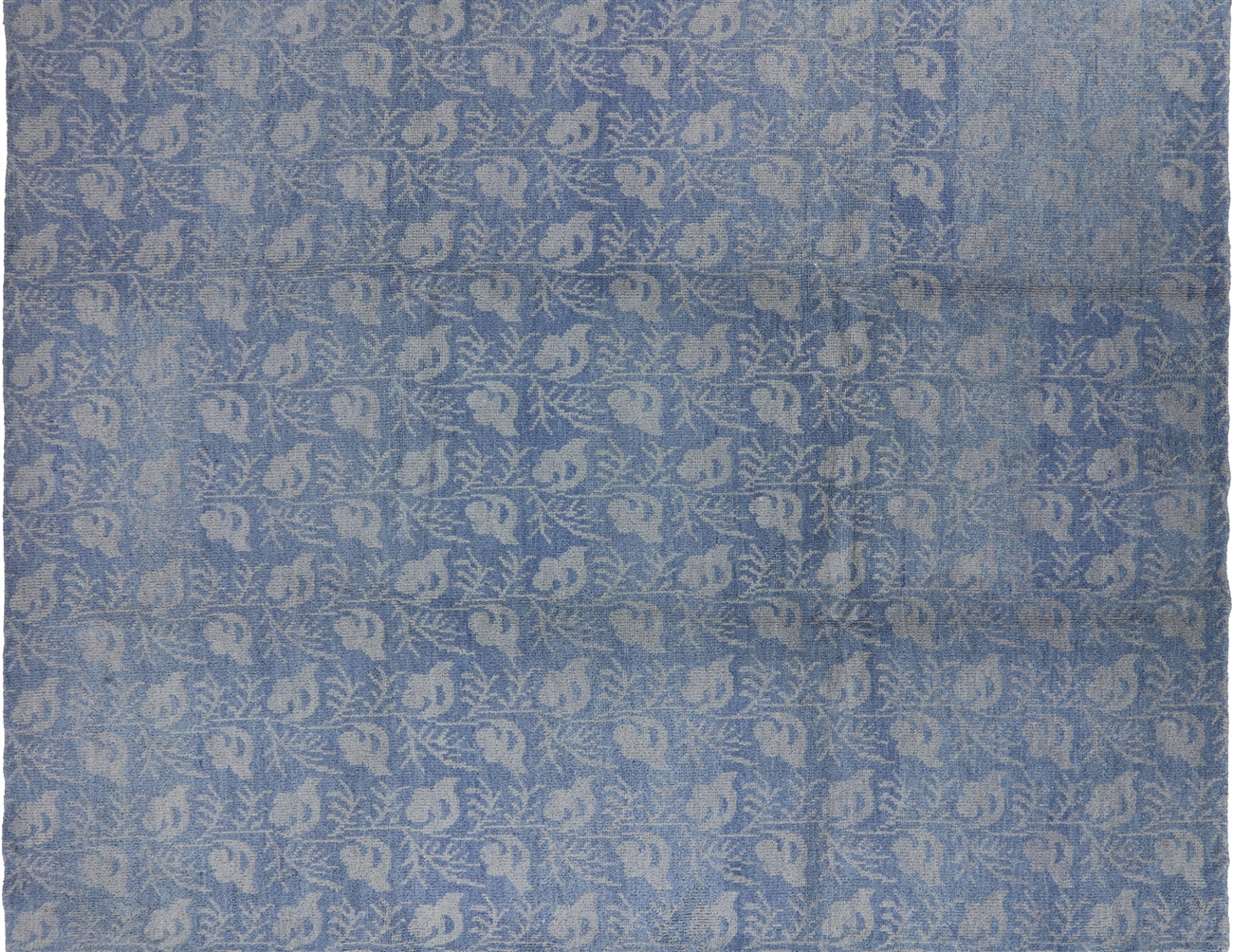 Modern Collection Oriental 9 X12 Blue Oushak Hand Knotted