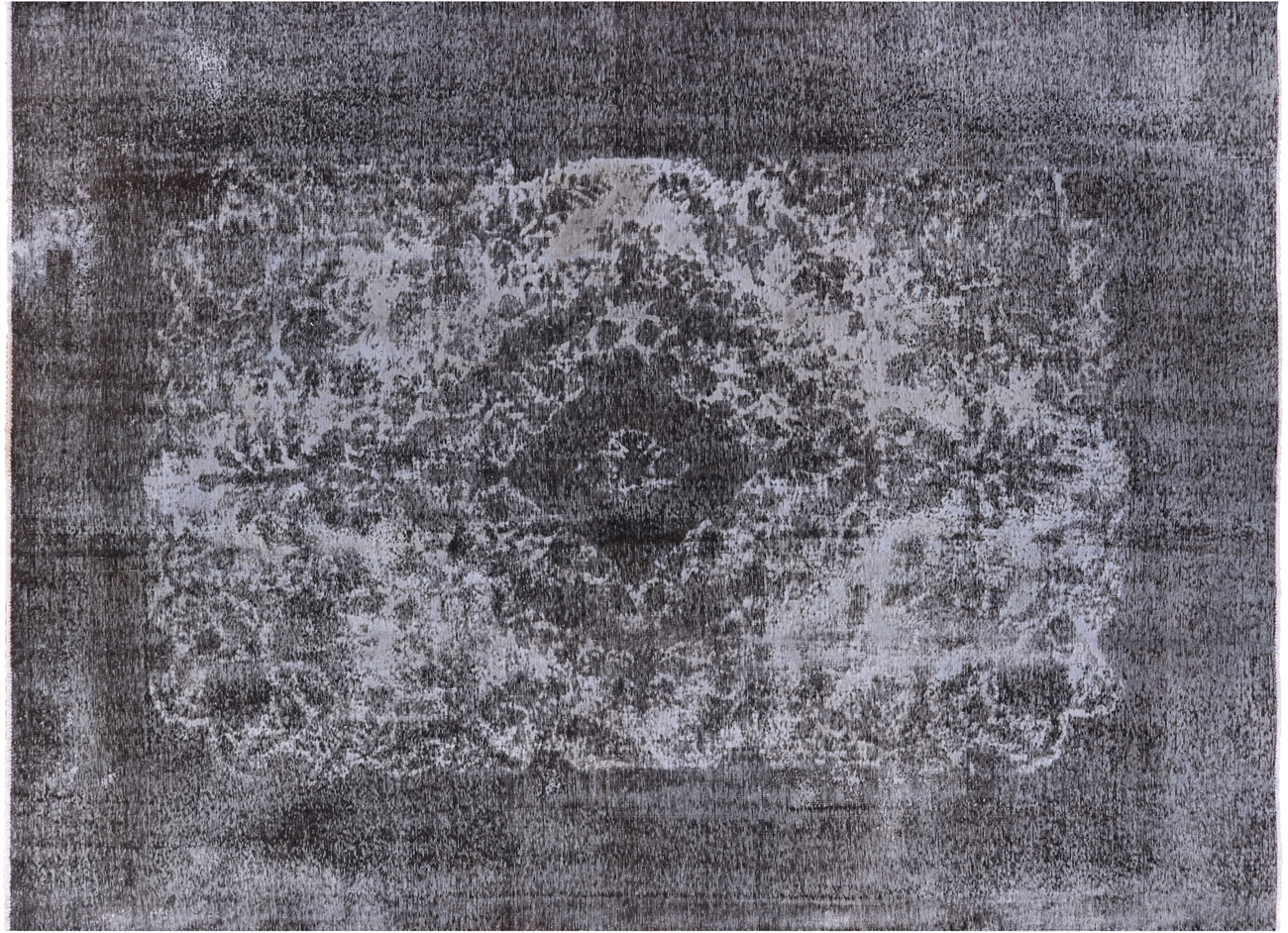 Unique 8x12 Blue Gray Overdyed Wool Hand Knotted Tabriz